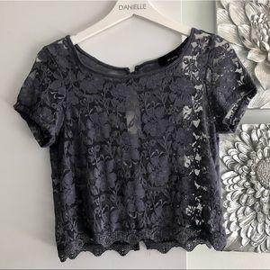 DILLEMA (ARITZIA) Lace Crop Top
